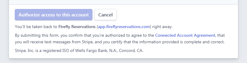 Settings - Save Stripe Acct